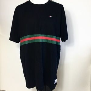 South Pole men's shirt 3XL black with green & red